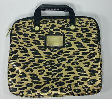 BETSEYVILLE BETSEY JOHNSON Metallic Gold Black Leopard Padded Laptop Case