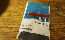 1961 chevrolet corvette GM 3779673 Ornament Left Front Fender Red 61 Corvette