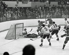 1965 Chicago Blackhawks GLENN HALL vs Red Wings Glossy 8x10 Photo Playoffs Print