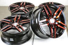 "15"" Wheels Cobalt Aveo Escort Accord Civic Cooper Galant Corolla Red Rims 4 Lugs"