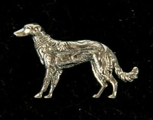 Vintage Solid Silver Greyhound Dog Brooch | Collectable | Pin | Gift | Present