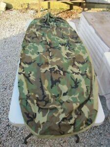 U.S. Military Surplus Gore-Tex Bivy Cover Woodland Camo Waterproof USED B4440