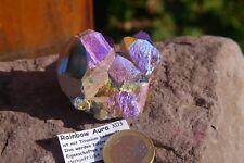 Rainbow Aura Bergkristall X03  ca.4,63cm  72,2g Bergkristall Aqua-Aura