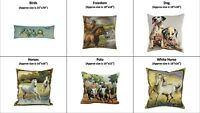 Tapestry Fabric European Gobelin Decorative Pillow Cover Animal Collection