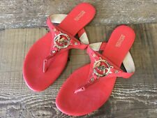 Women Michael Kors Thong Flat Slide Sandals Coral size 8.5.            S31