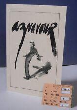 Charles Aznavour 1983 Bev.Hills Concert Program+Ticket + Jacqueline Bisset Photo