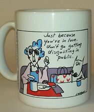 "Maxine Shoebox greetings coffee/tea cup/mug ""Just because you're in love.""."
