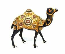 Handmade Metal Stone Painting Camel Statue Home Decor Gift Corporate Figurine