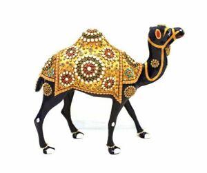 Handmade Metal Stone Painting Camel Statue Home Decor Gift Corporate Figurine