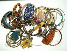 Huge Vintage Mixed Style Bracelets Destash Wearable & For Parts Mixed Media Lot