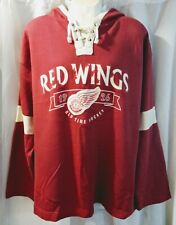 NHL Detroit Red Wings Old Time Hockey Pullover Lacer Hoodie sz XL