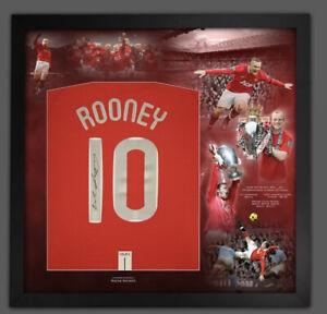Wayne Rooney Backsigned 2008 Manchester United framed shirt with COA  £199
