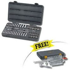 "57 Pc. 3/8"" Dr. 6 Pt. Socket Set w/FREE 51 Pc. 1/4"" Dr. 120XP SAE/Metric Stand"