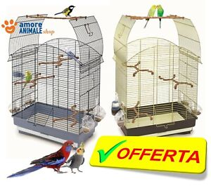 Imac AGATA Gabbia  BLU / ORO per canarini, uccelli, cocorite cm 58x33x62,5