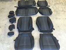 FACTORY OEM CLOTH REPLACEMENT SEAT COVERS BLACK 2015 2016 2017 F150 SUPER CREW 2