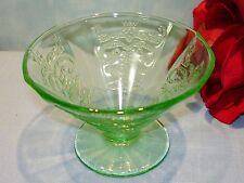 Green Depression Glass Federal Madrid Green Sherbet