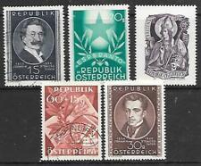 AUSTRIA - 5 x Singles - MNH/Used - 1949 Issues.  Cat £20+