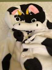 Silver Lilly Adult Pajamas - Plush One Piece Cosplay Animal Costume, Cow, Size M
