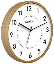 "Westclox 10"" Blonde Woodgrain Wall Clock Quartz Analog USA Seller"