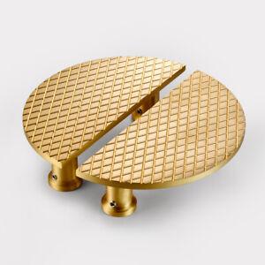 Modern Art Deco Diamond Brass Half Moon Door Handles Wardrobe Cabinet Pulls