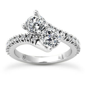 Solitaire 1.14 Carat SI1/H Round Cut Enhanced Diamond Engagement Ring White Gold