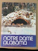 1976 Notre Dame Fighting Irish vs Alabama Crimson Tide Football Program GOOD