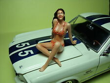 MISS  SHELBY  1/18  UNPAINTED  FIGURE  BY  VROOM   FOR  AMERICAN  MUSCLE  CARS
