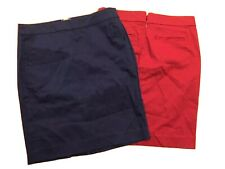 Tommy Hilfiger Lot of 2 (Two) Blue Red Skirts - Nwt ($130) - Cotton Blend - Sz 0