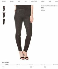 NWT! PAIGE Premium Denim Hoxton High rise Metallic Black Jeans Size 26