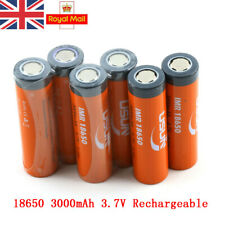 1/2/4/6PCS 18650 3.7V 3000mAh BRC Rechargeable Li-ion Battery Lithium Cells UK