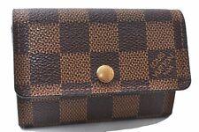 Authentic Louis Vuitton Damier Porte Monnaie Plat Coin Case N61930 LV E0333