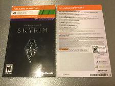 The Elder Scrolls V: Skyrim (Xbox 360)  Full Game Download Card - Fast Delivery
