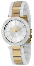 DKNY NY2289 Stanhope Silver Tone Dial Gold Tone and Ceramic Women's Watch
