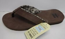 Toms Size 13 Brown Leather Sandals New Mens Shoes
