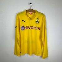 BORUSSIA DORTMUND HOME FOOTBALL SHIRT 2014/2015 SOCCER JERSEY PUMA YELLOW L