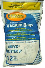 Oreck Buster B Hand Held Vacuum Cleaner Bags 12 pk