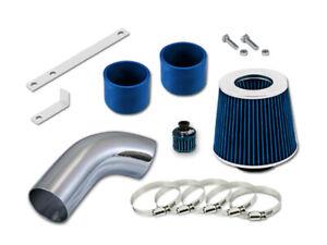 "GSP 3"" Blue Short Ram Air Intake Induction Kit + Filter For 02-05 Audi A4 A6 V6"