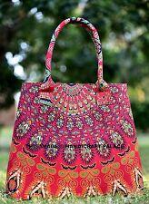 Women's Mandala Cotton Handbag Indian Designer Large Tote Bag Shopping Purse Bag