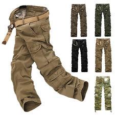 Homme armée cargo Pantalons travail camo combat camouflage treillis FR