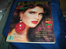 PLAYBOY DEC 1986 GALA XMAS ISS PLAYMATE MONTH LAURIE CARR~BROOKE SHIELDS CV GIRL