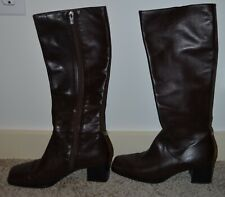 Bally Frosta Made in Italy Women's Brown Leather Knee High Boots Size 5 M