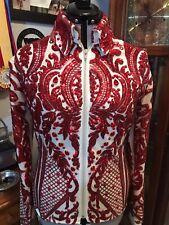 Western pleasure rail horsemanship Reining Showmanship Red & Tan Sequin Jacket