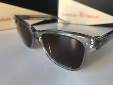 AO American Optical Saratoga Crystal Grey Brown Sunglasses  MADE IN USA  52MM