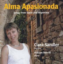 CLARA SANDLER / W.MERRILL - CD - ALMA APASIONADA - Songs from Spain & Argentina
