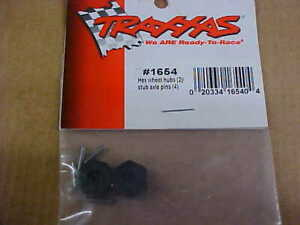 TRAXXAS 1654 = HEX WHEEL HUBS & PINS    (NEW)