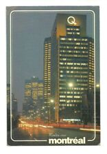 HYDRO QUEBEC BUILDING AT NIGHT, MONTREAL, QUEBEC, CANADA CHROME POSTCARD