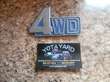 1981-1990 Toyota Land Cruise 4WD Genuine Emblem Badge 75431-90A00 YOTA YARD