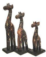 Giraffe 3 er Giraffenset Holzgiraffe Giraffen Afrika Tiere Tierfigur Dekofigur