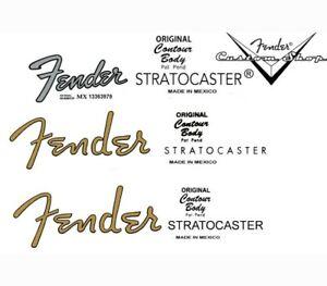 FENDER Guitar Headstock Style Decal Waterslides,