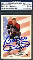 BOBBY HULL #77 1991 ULTIMATE PSA/DNA CERTIFIED SIGNED AUTHENTIC AUTOGRAPH